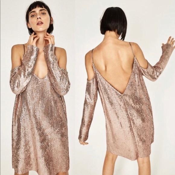 c85f057a Zara Dresses | Nwt Sequin Dress | Poshmark
